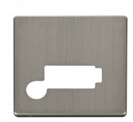 Scolmore Click Definity SCP350SS Connection Unit With Flex Outlet (Lockable) Cover Plate Stainless Steel