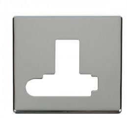 Scolmore Click Definity SCP351CH Switched Conn. Unit With Flex Outlet (Lockable) Cover Plate Chrome