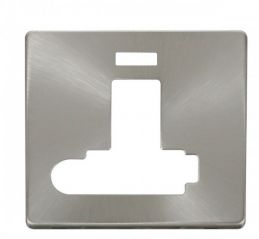 Scolmore Click Definity SCP352BS Switched Conn. Unit With F/O & Neon (Lockable) Cover Plate Brushed Stainless