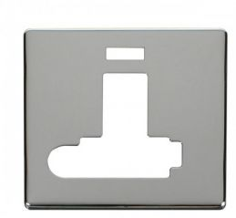 Scolmore Click Definity SCP352CH Switched Conn. Unit With F/O & Neon (Lockable) Cover Plate Chrome