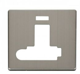 Scolmore Click Definity SCP352SS Switched Conn. Unit With F/O & Neon (Lockable) Cover Plate Stainless Steel