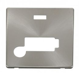 Scolmore Click Definity SCP353BS Conn. Unit With Flex Outlet & Neon (Lockable) Cover Plate Brushed Stainless