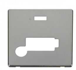 Scolmore Click Definity SCP353CH Conn. Unit With Flex Outlet & Neon (Lockable) Cover Plate Chrome