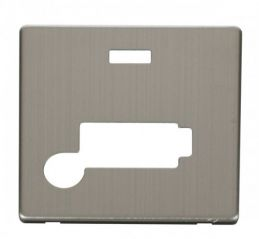 Scolmore Click Definity SCP353SS Conn. Unit With Flex Outlet & Neon (Lockable) Cover Plate Stainless Steel