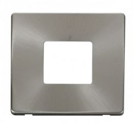 Scolmore Click Definity SCP402BS 1 Gang Twin Aperture Cover Plate Brushed Stainless