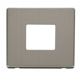 Scolmore Click Definity SCP402SS 1 Gang Twin Aperture Cover Plate Stainless Steel