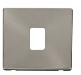 Scolmore Click Definity SCP422BS 20A DP Switch Cover Plate Brushed Stainless