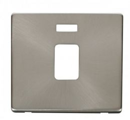 Scolmore Click Definity SCP423BS 20A DP Switch With Neon Cover Plate Brushed Stainless