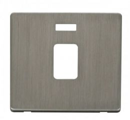 Scolmore Click Definity SCP423SS 20A DP Switch With Neon Cover Plate Stainless Steel