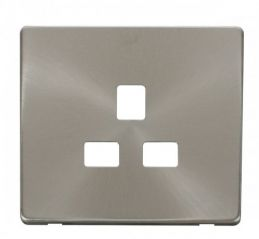 Scolmore Click Definity SCP430BS 1 Gang 13A Socket Cover Plate Brushed Stainless