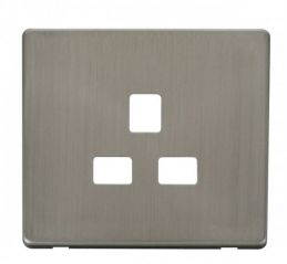 Scolmore Click Definity SCP430SS 1 Gang 13A Socket Cover Plate Stainless Steel