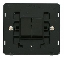 Scolmore Click Definity SIN012BK 10AX 2 Gang 2 Way Switch Insert Black