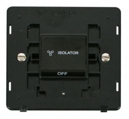 Scolmore Click Definity SIN020BK 10A 3 Pole Fan Isolation Switch Insert Black