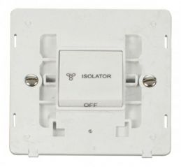 Scolmore Click Definity SIN020PW 10A 3 Pole Fan Isolation Switch Insert White