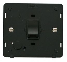 Scolmore Click Definity SIN022BK 20A DP Switch With Flex Outlet Insert Black