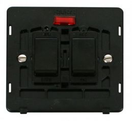 Scolmore Click Definity SIN024BK 20A Sink & Bath Switch With Neon Insert Black