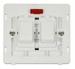 Scolmore Click Definity SIN024PW 20A Sink & Bath Switch With Neon Insert White