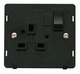 Scolmore Click Definity SIN035BK 1 Gang 13A DP Switched Socket Insert Black