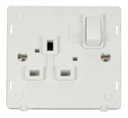 Scolmore Click Definity SIN035PW 1 Gang 13A DP Switched Socket Insert White