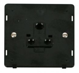 Scolmore Click Definity SIN038BK 1 Gang 5A Round Pin Socket Outlet Insert Black