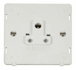 Scolmore Click Definity SIN038PW 1 Gang 5A Round Pin Socket Outlet Insert White