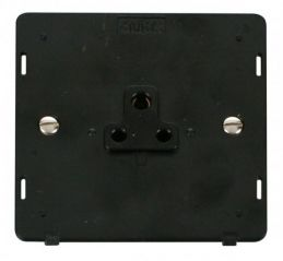 Scolmore Click Definity SIN039BK 1 Gang 2A Round Pin Socket Outlet Insert Black