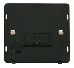 Scolmore Click Definity SIN050BK 13A Fused Connection Unit With Flex Outlet Insert Black
