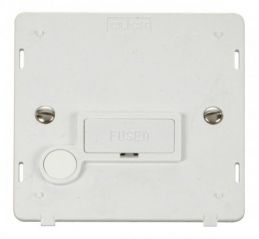 Scolmore Click Definity SIN050PW 13A Fused Connection Unit With Flex Outlet Insert White