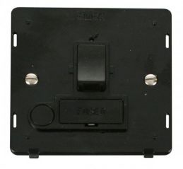 Scolmore Click Definity SIN051BK 13A Fused Switched Connection Unit With Flex Outlet Insert Black