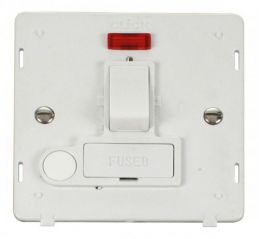 Scolmore Click Definity SIN052PW 13A Fused Switched Conn. Unit With Flex Outlet & Neon Insert White