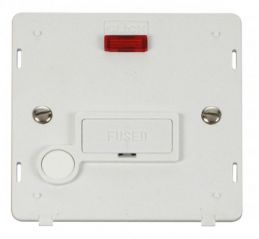 Scolmore Click Definity SIN053PW 13A Fused Connection Unit With Flex Outlet & Neon Insert White
