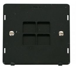 Scolmore Click Definity SIN060BK 1 Gang Blank Plate Insert Black