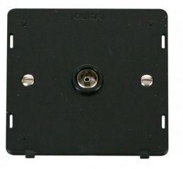 Scolmore Click Definity SIN065BK Single Coaxial Socket Insert Black