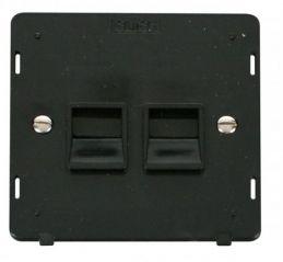 Scolmore Click Definity SIN126BK Twin Telephone Socket Secondary Insert Black