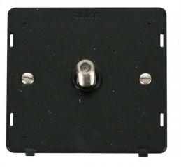Scolmore Click Definity SIN156BK Single Satellite Socket Insert Black
