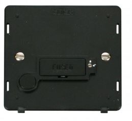 Scolmore Click Definity SIN250BK 13A Fused Connection Unit With Flex Outlet (Lockable) Insert Black