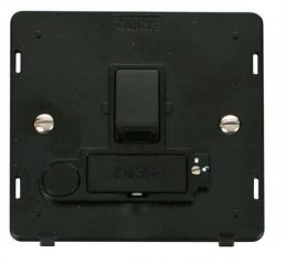 Scolmore Click Definity SIN251BK 13A Fused Switched Conn. Unit With Flex Outlet (Lockable) Insert Black