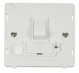 Scolmore Click Definity SIN251PW 13A Fused Switched Conn. Unit With Flex Outlet (Lockable) Insert White