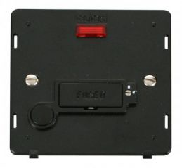 Scolmore Click Definity SIN253BK 13A Fused Conn. Unit With Flex Outlet & Neon (Lockable) Insert Black