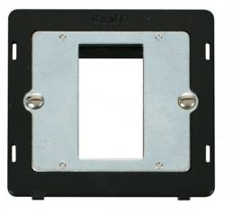 Scolmore Click Definity SIN310BK 1 Gang Plate Single Media Module Insert Black