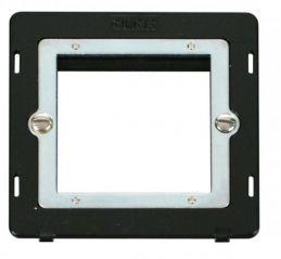 Scolmore Click Definity SIN311BK 1 Gang Plate Twin Media Module Insert Black