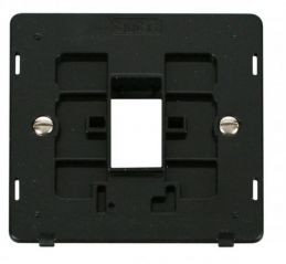 Scolmore Click Definity SIN401BK 1 Gang Plate Single Aperture Insert Black