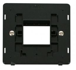 Scolmore Click Definity SIN402BK 1 Gang Plate Twin Aperture Insert Black