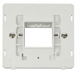 Scolmore Click Definity SIN402PW 1 Gang Plate Twin Aperture Insert White