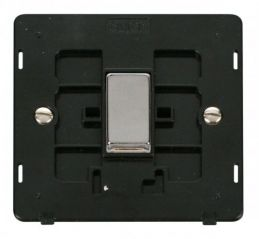 Scolmore Click Definity SIN411BKCH INGOT 10AX 1 Gang 2 Way Switch Insert Black/Chrome