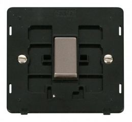 Scolmore Click Definity SIN411BKSS INGOT 10AX 1 Gang 2 Way Switch Insert Black/Stainless Steel