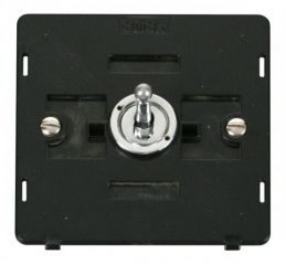 Scolmore Click Definity SIN421CH 10AX 1 Gang 2 Way Toggle Switch Insert Chrome