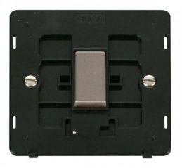 Scolmore Click Definity SIN425BKSS INGOT 10AX 1 Gang Intermediate Switch Insert Black/Stainless Steel