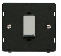 Scolmore Click Definity SIN500BKCH INGOT 45A 1 Gang Plate DP Switch Insert Black