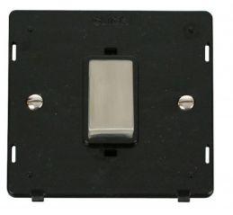Scolmore Click Definity SIN500BKSS INGOT 45A 1 Gang Plate DP Switch Insert Black
